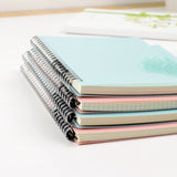 Classic Pastel Spiral Bound Notebook: Lined, Dotted, Blank, Grid