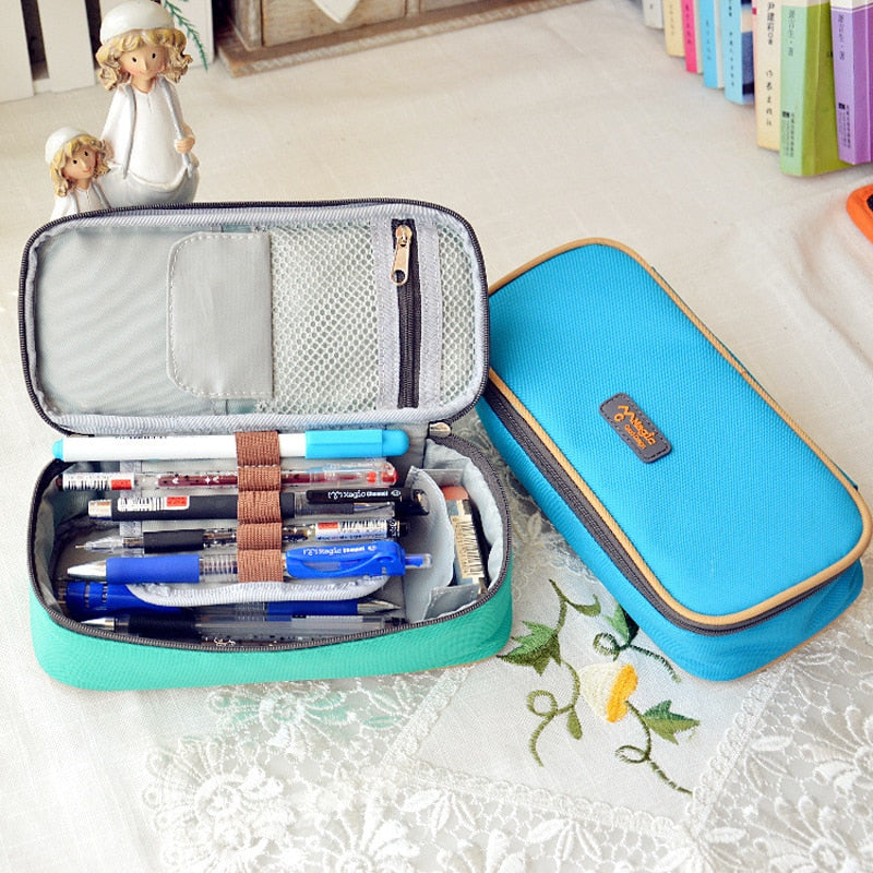 Korean Style Pencil Case Organizer: 3 candy colors to choose from