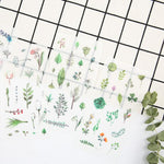 Watercolor Flowers & Plants Sticker Set: Includes 6 Sheets!
