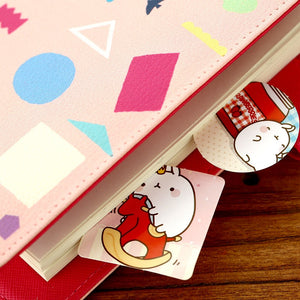 Colorful Molang Rabbit Sticker Set