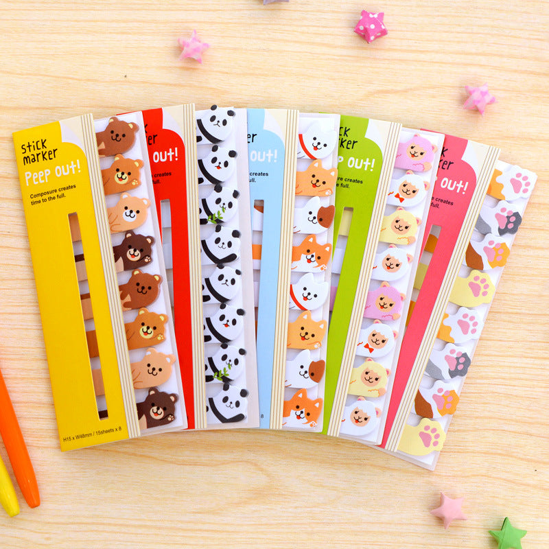 Kawaii Animal Sticky Note: Corgis, Pandas, Bunnies & More