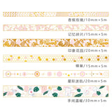 Gilded Pink Washi Tape Series: Available in 6 designs!