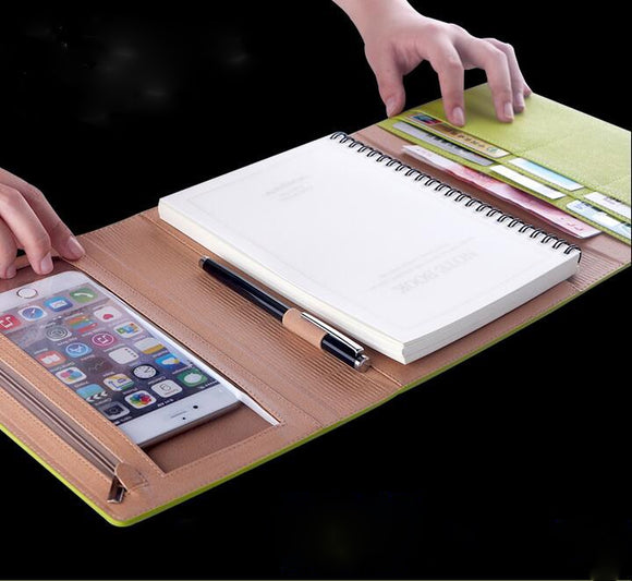 Notebook Organizer Bundle: All-in-1 pen, phone, notebook, and card holder
