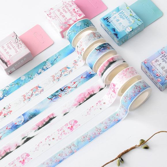 Spring Blossoms Washi Tape Series: 13 designs available!