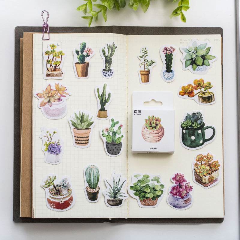 Potted Plants Sticker Set: 50pcs