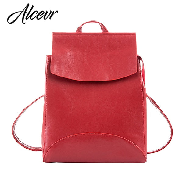 Alcevr Leather Backpack: 8 colors
