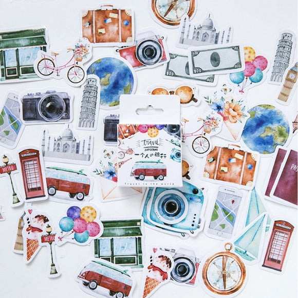 Wonders of Travel Sticker Set: 46 pcs