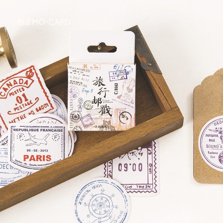 Travel Postmark Sticker Pack