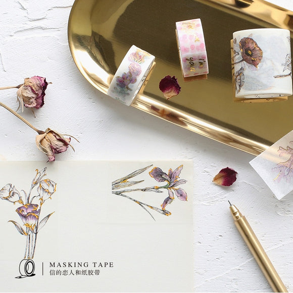 Luxurious Gold Foil Washi Tapes: 8 designs to choose from