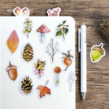 Autumn Forest Sticker Set: 46 pcs