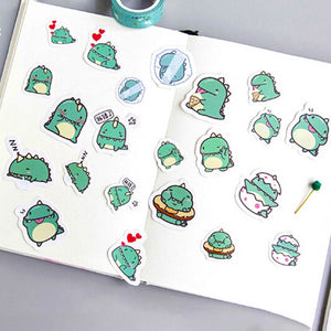 Cheeky Green Dragon Sticker Set