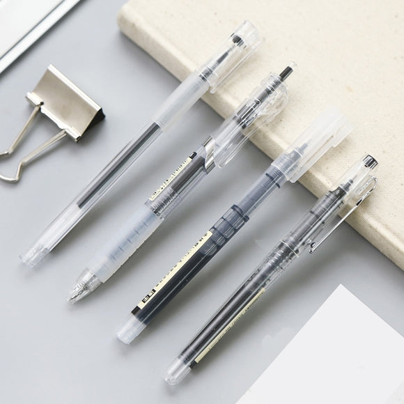 MUJI Style Black Gel Pens: Set of 4