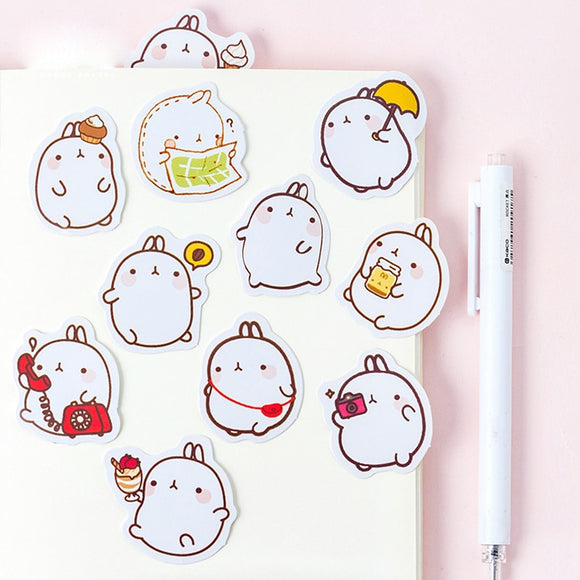 Kawaii Molang Rabbit Sticker Set