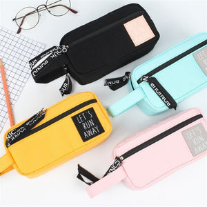 Korean Canvas Pencil Case: 4 colors!