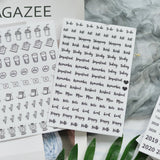 Day, Date & Month Scrapbooking Stickers: 7 sheets