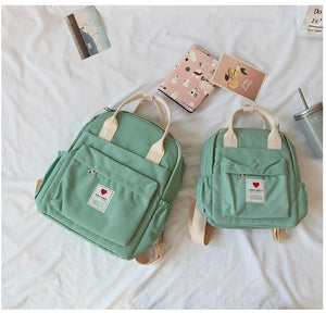Kawaii Hearts Backpack: 5 colors