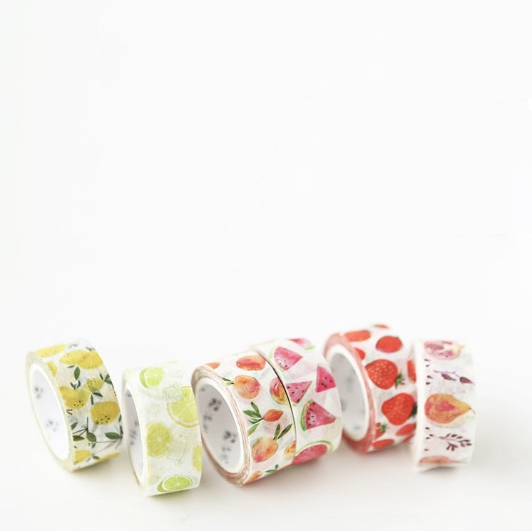 Fruit Washi Tapes: 6 designs