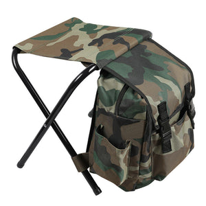 Portable Folding  Stool Backpack Chair Shoulder Bag Beach Camping Hiking Fishing