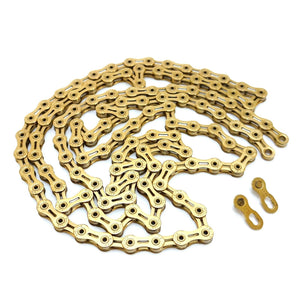 TIPSUM X11SL Ti Gold 118 Links Road MTB Bike Chain Shimano SRAM CAMPAGNOLO KMC