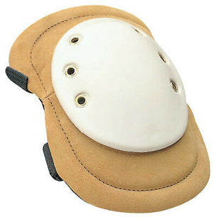 Allegro Welding Knee Pads, Elastic Strap; Quick-Release Buckle, Tan; White