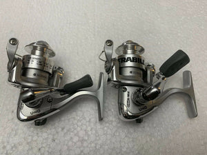 Set Of 2 Frabill Fin-S Pro 3+1 Bearing Ice Fishing Spinning Reels Sub Zero