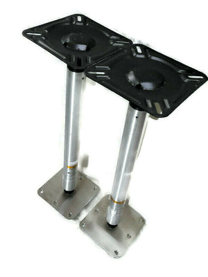 Two SPORT MASTER Bass Boat Seat Pedestal With Swivels 16 inches in Total Height