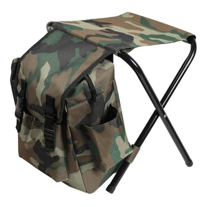 Portable Folding Camping Fishing Chair Stool Travel Bag Beach Outdoor Backpack