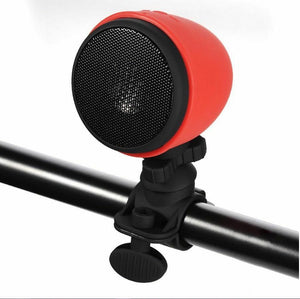 Portable Handlebar Mounted Bluetooth Bicycle Speaker - Red