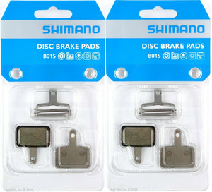 2-Pack - Genuine Shimano B01S Resin Disc Brake Pads fits Deore M486 M495 M575