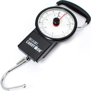 Mechanical Hanging Luggage Scale with a Tape Measure up to Black