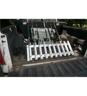 Viking Truck Bed Wall Fishing Rod Pole Holder Rack Mount Organization 6 Pole
