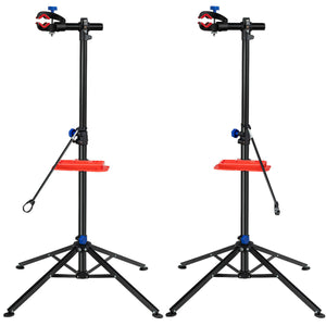 2 PACK Pro Bike Repair Stand Foldable Adjustable Cycle Bicycle Rack w/Tool Tray