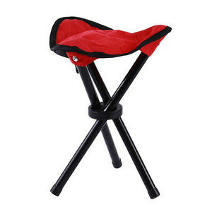 Outdoor Camping Fishing Chair Portable Folding Tripod Stool Beach Chair Durable