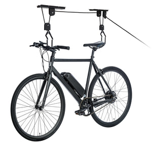 Easy Lift Bike Hoist Single Bicycle Storage Pulley Hanger System Ceiling Mount
