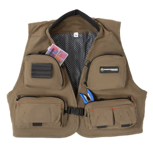 Fly Fishing Outdoor Nylon Vest Adjustable Tackle Organizer 12 Pockets LG XL