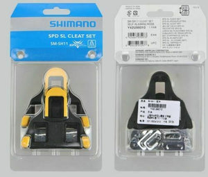 Shimano SM-SH10/11/12 Fixed Cleats Set 0/2/6° Float SPD-SL for Bike Pedals