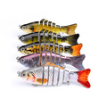 3pcs New 6 Segment Minnow Swimbait Lures Crank baits Baits Hard Bait Fishing Lur