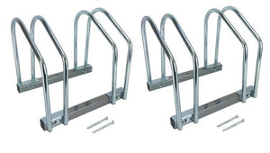 Set of two - 2 Bike Bicycle Stand Garage Storage Organizer Cycling Rack Silver