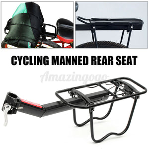 Back Rear Pannier Rack Alloy Bike Bicycle Seat Post Frame Mount Carrier Holder