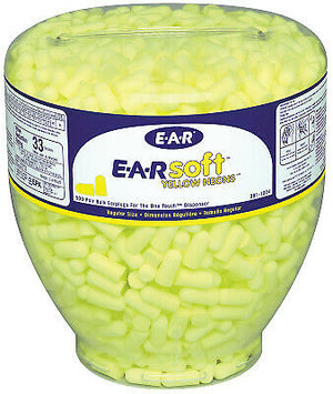 3M E-A-R One Touch Earplug Dispensers, Polyurethane, Yellow, Uncorded 7000002305