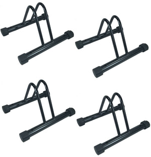 Set of 4 - Bike Floor Parking Single Rack Home Storage Garage Bicycle Stands