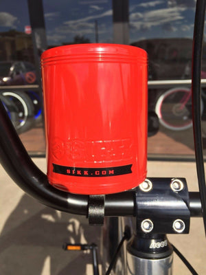 SIKK Cruiser Bicycle Stainless Steel Insulated Cup Holder - RED Beach Cruiser