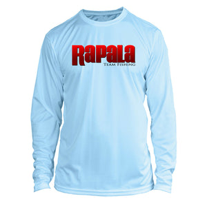 Rapala Long Sleeve Microfiber UPF Fishing Shirt Arctic Blue
