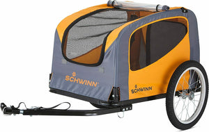 Schwinn Rascal Bike Pet Trailer, For Small and Large Dogs Small (Up to 50lbs)