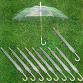 Lot Transparent Clear Automatic Umbrella Parasol for Wedding Party Favor USA