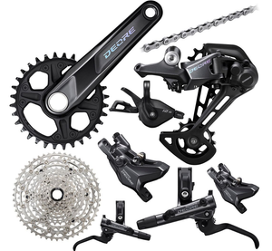 New 2021 Shimano Deore M6100 12-speed Hydraulic Brake Groupset 170/175mm 10-51t