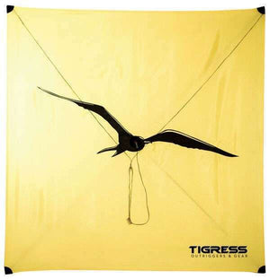 Tigress All Wind Fishing Kite - 10-15 MPH Wind - Yellow - Free Ship