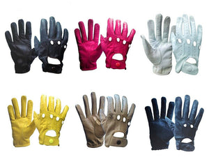 DRIVING GLOVE FOR WOMEN UNLINED GENUINE LEATHER