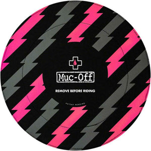 Muc-Off Disc Brake Covers, Black/Pink Fits All MTB & Road Rotors