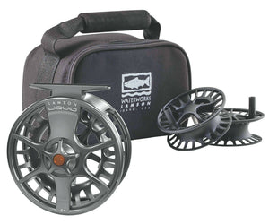 Lamson Liquid 3-Pack Fly Reel & 2 Spools Smoke ~ New ~ All Sizes